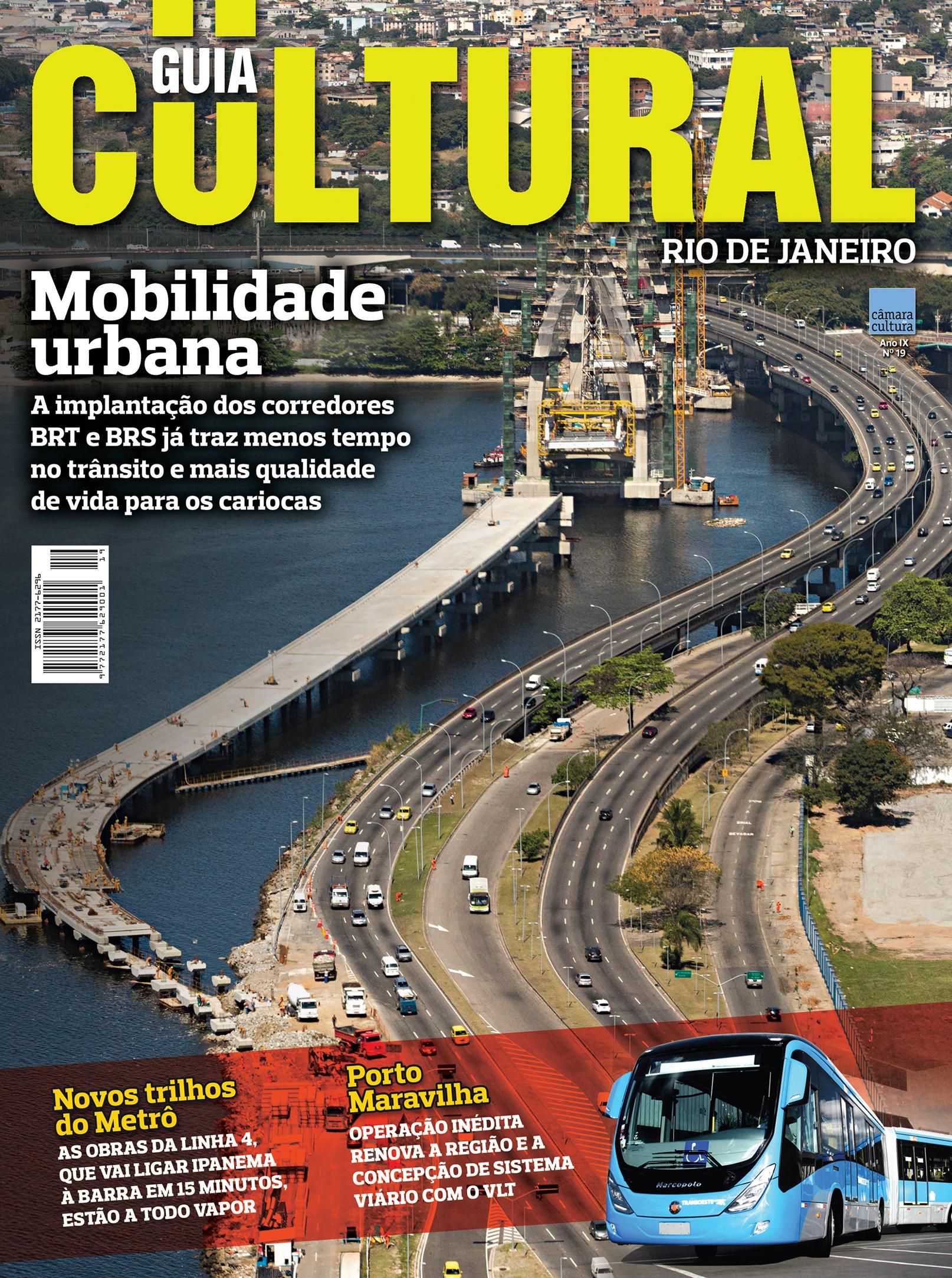 Capa da Edição nº 19 Guia Cultural Rio de Janeiro.