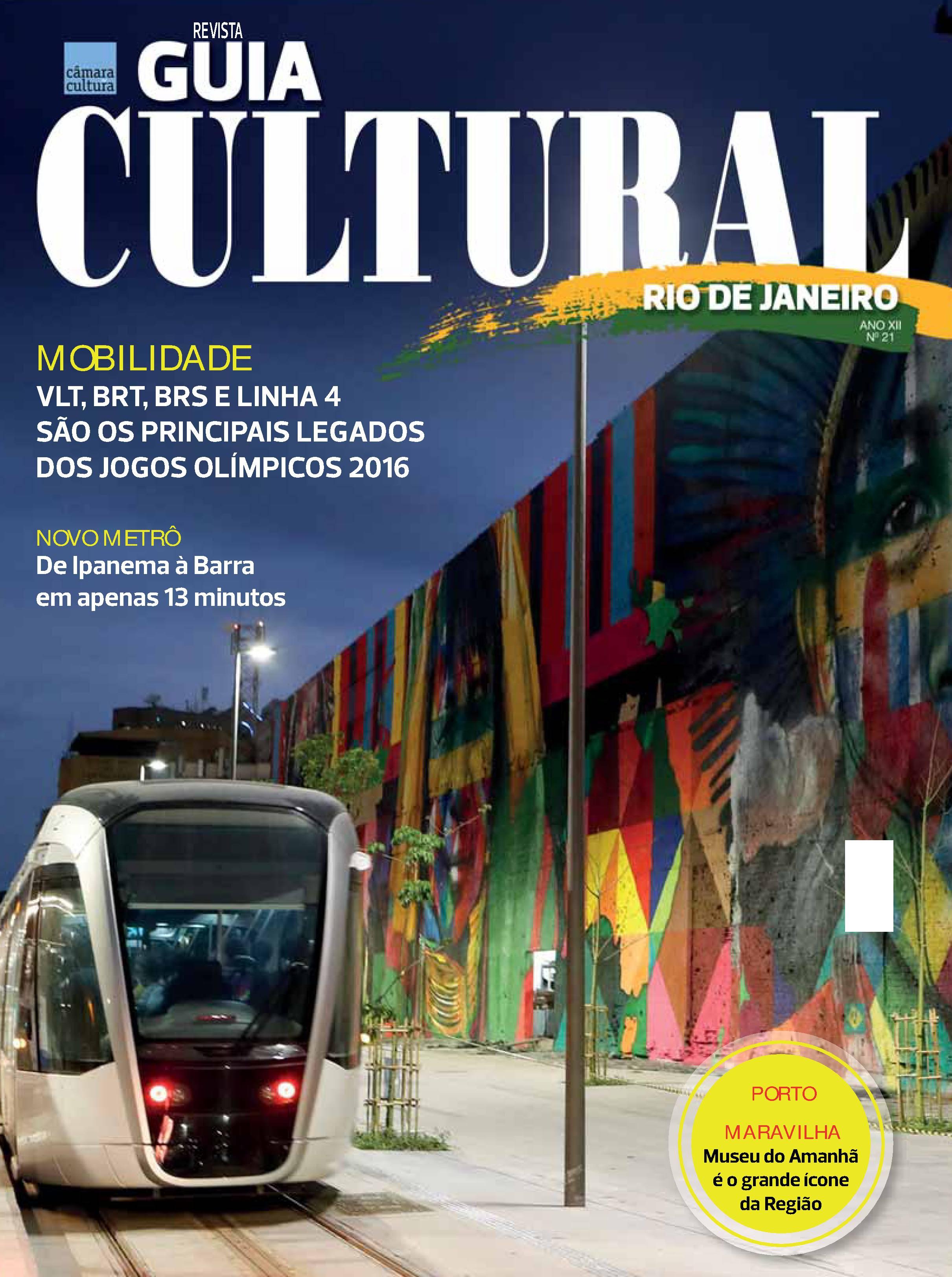 Capa da Edição nº 21 Revista Guia Cultural