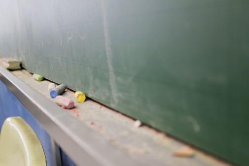Lousa em sala de aula. Foto: Marcos Santos/USP Imagens
