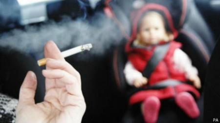 A fumaça do cigarro pode permanecer no ar por até duas horas e meia.