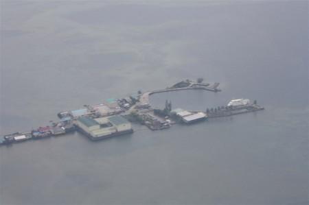 Uma parte de uma das mais de 200 ilhas de Palau, uma nação insular no Oceano Pacífico ameaçada pela elevação do nível do mar. Foto: IRIN/Jaspreet Kindra.
