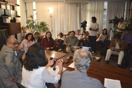 Com apoio do UNIC Rio, lançamento aconteceu na Academia Brasileira de Ciências (ABC), no Rio. Foto: UNIC Rio/Diogo Cysne.