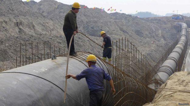 China realiza transposição de água do sul para abastecer Pequim.