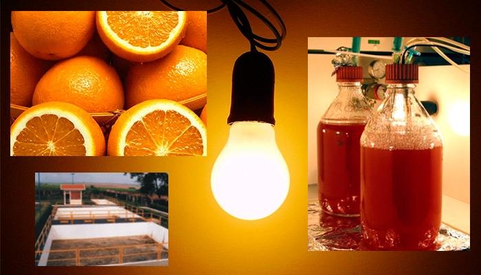 Pesquisadores do Cempeqc/Unesp desenvolvem metodologia para produzir hidrogênio a partir de águas residuárias do beneficiamento da laranja (fotos: divulgação e Wikimedia).