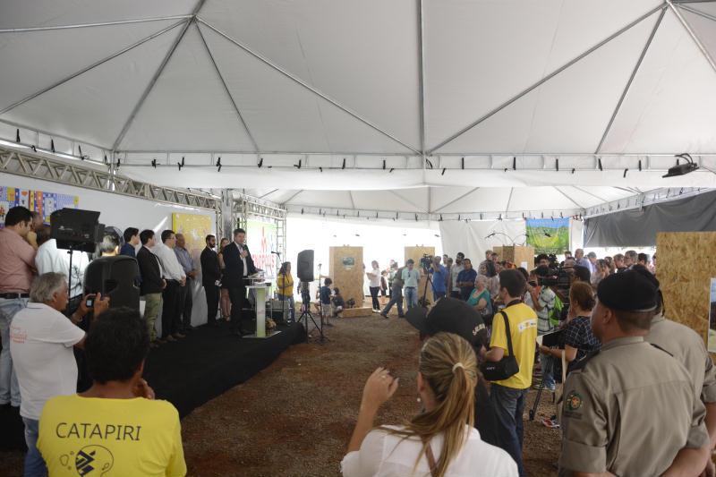 Apresentação dos resultados alcançados e novos objetivos do Programa Água Brasil, em Pirenópolis. Foto: Programa Água Brasil.