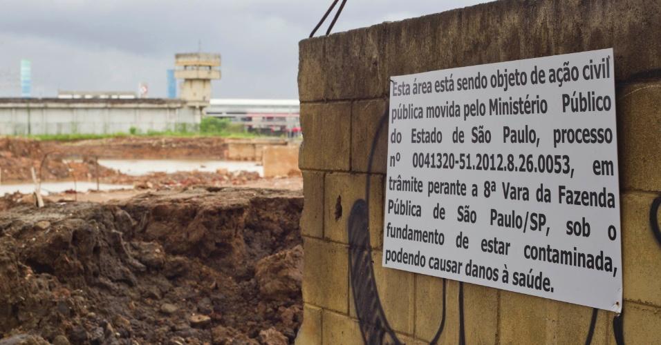Governo do Estado de SP quer construir piscinão em área contaminada.
