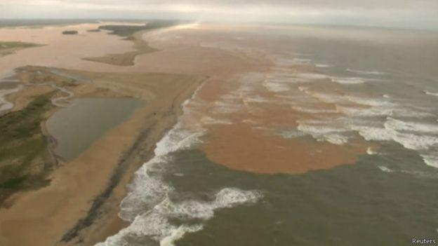 ReutersONU detalhou consequências do acidente, como chegada da lama ao mar. Foto Reuters.