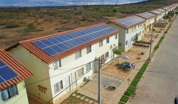 Microusina nos telhados tem potencial para produzir energia para abastecer 3,6 mil domicílios por ano. Foto: Caixa.