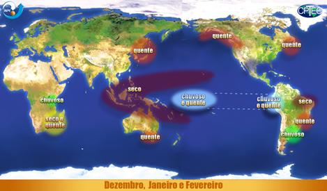 El Niño. Imagem: CPTEC/INPE.