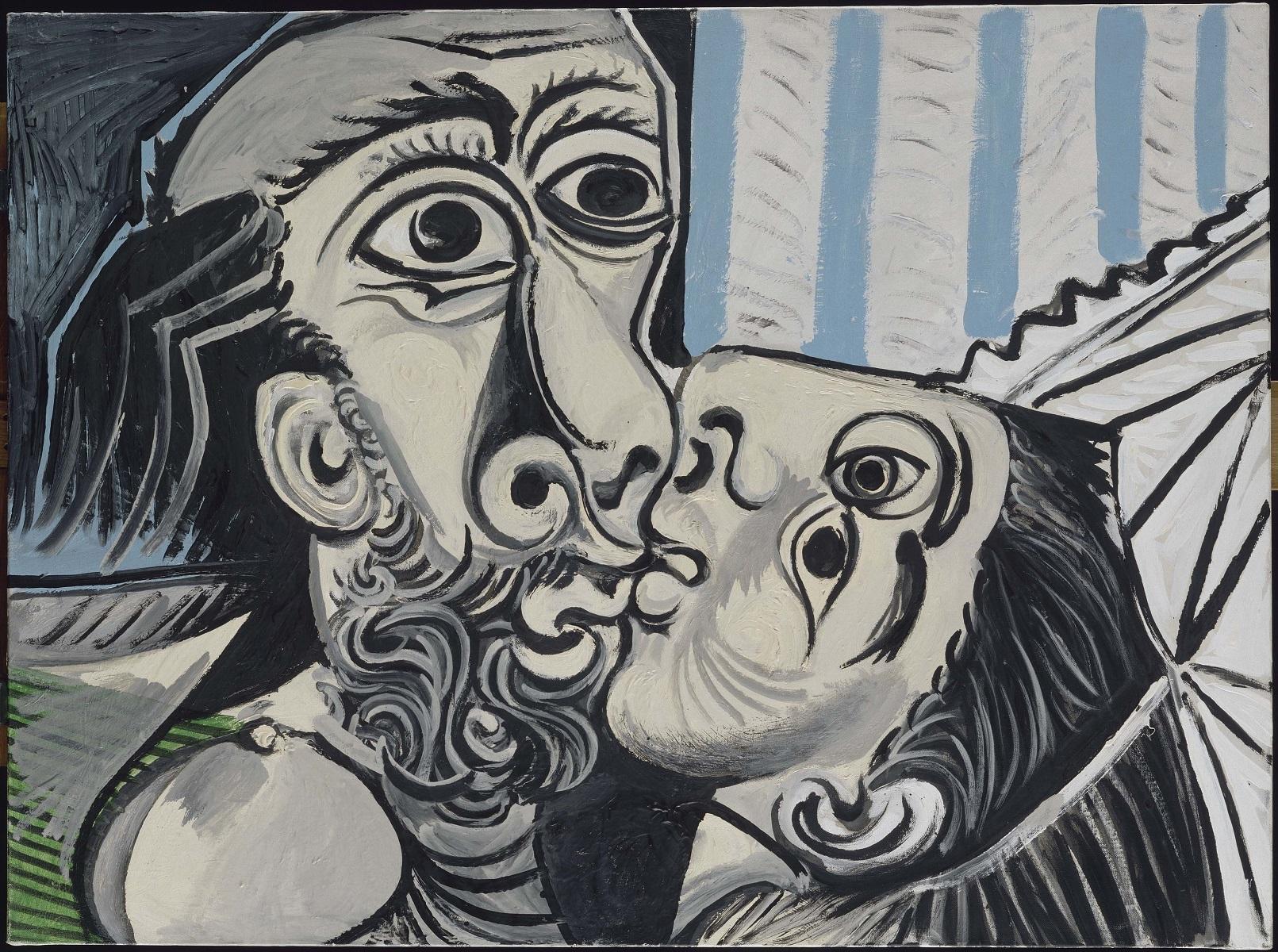 Le Baiser - O beijo - 26 outubro 1969 - Óleo sobre tela - Musée national Picasso-Paris.