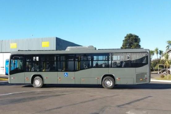 Ônibus elétrico movido a energia solar – O veículo foi desenvolvido pelo Grupo de Pesquisa Estratégica em Energia Solar da UFSC.